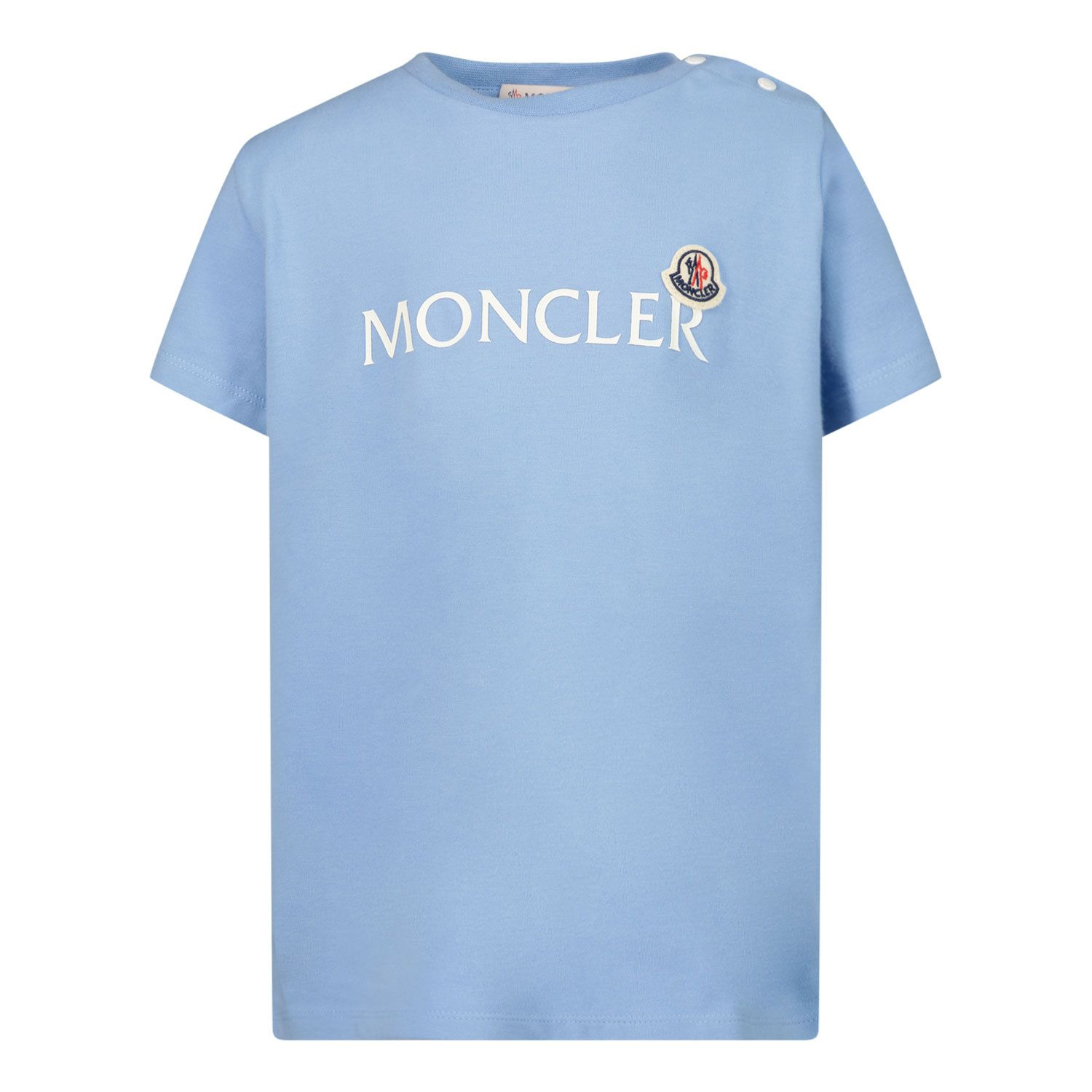 Picture of Moncler 8C73820 baby shirt light blue