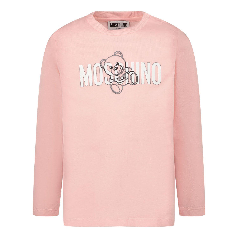 Bild von Moschino MPO005 Baby-T-Shirt Hellrosa
