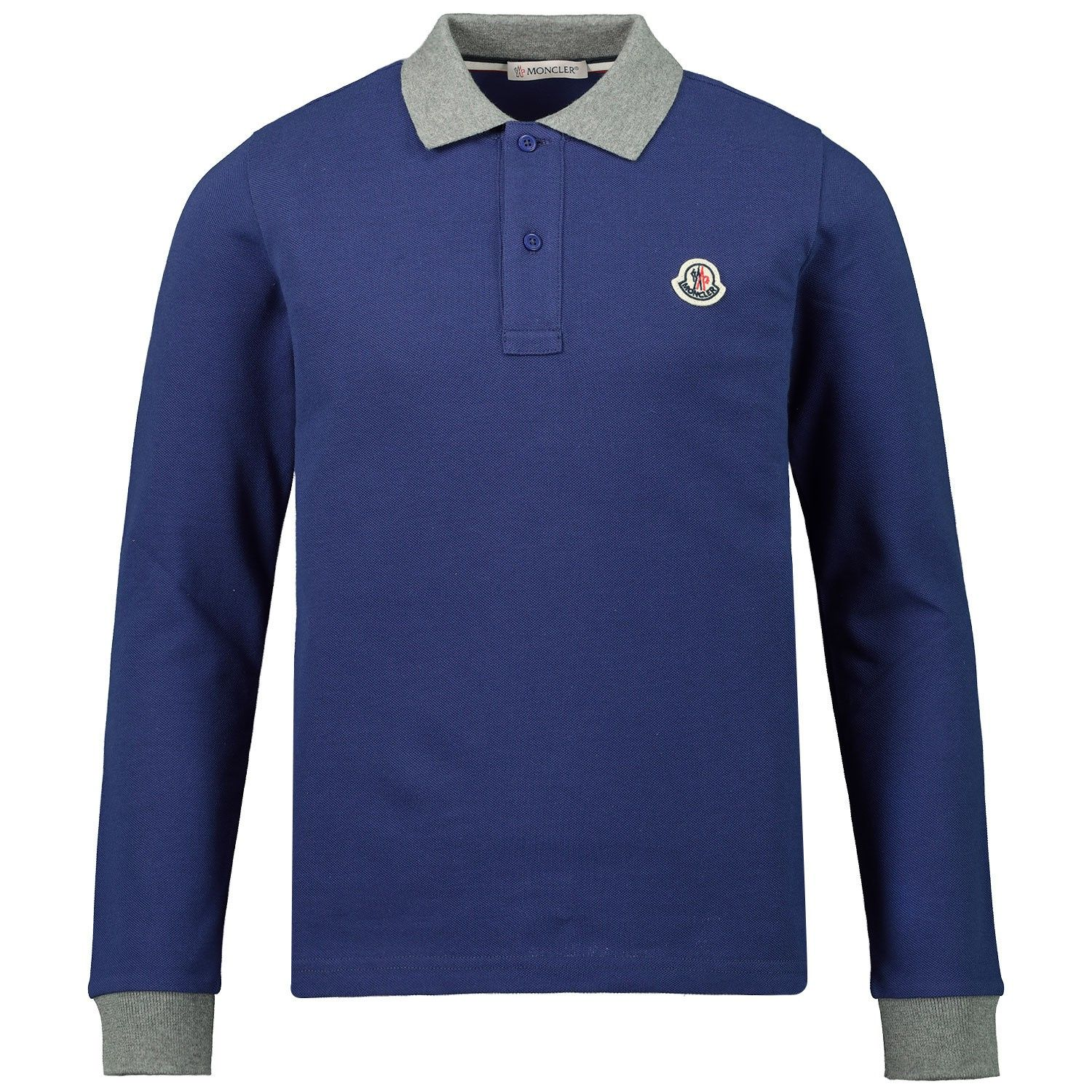 Picture of Moncler 8B70820 kids polo shirt cobalt blue