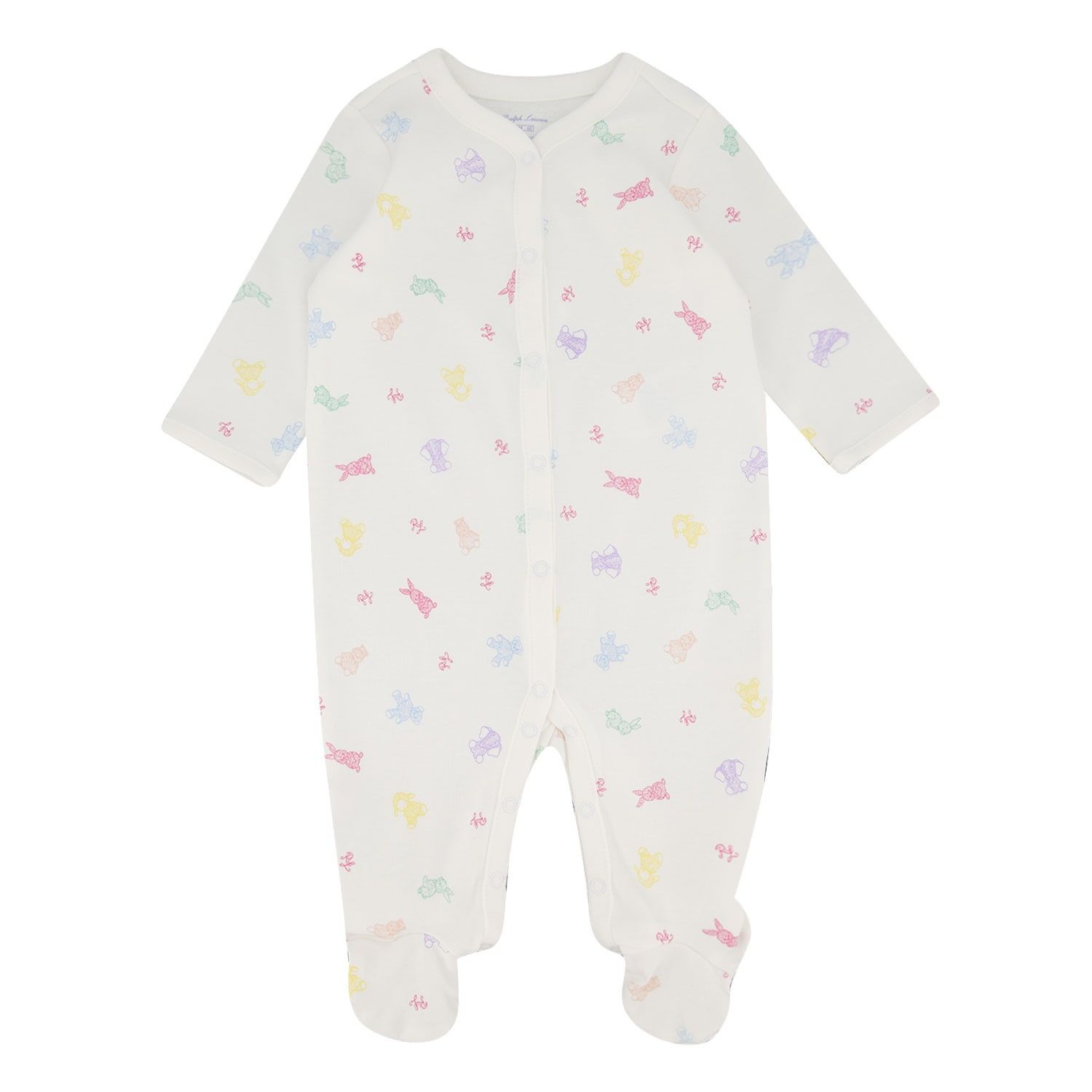 Picture of Ralph Lauren 310785115 baby playsuit white