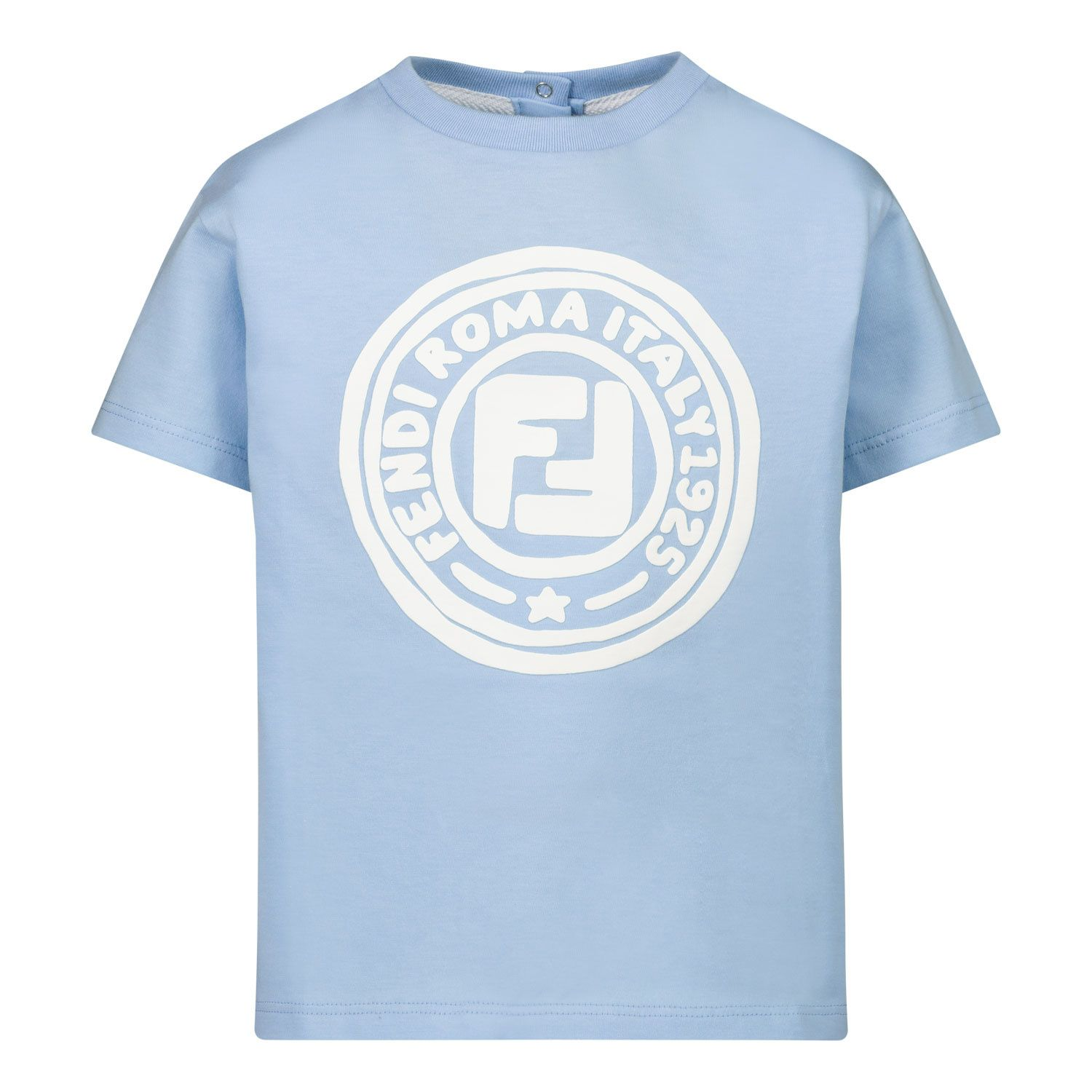 Picture of Fendi BMI211 baby shirt light blue