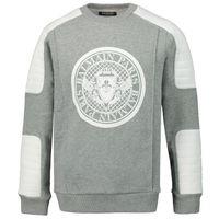 Picture of Balmain 6L4580 kids sweater grey