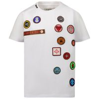 Picture of My Brand 3X21001A0006 kids t-shirt white