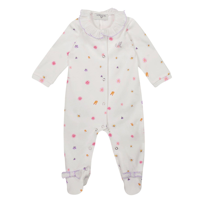 Bild von MonnaLisa 357212A4 Babystrampelanzug Weiß