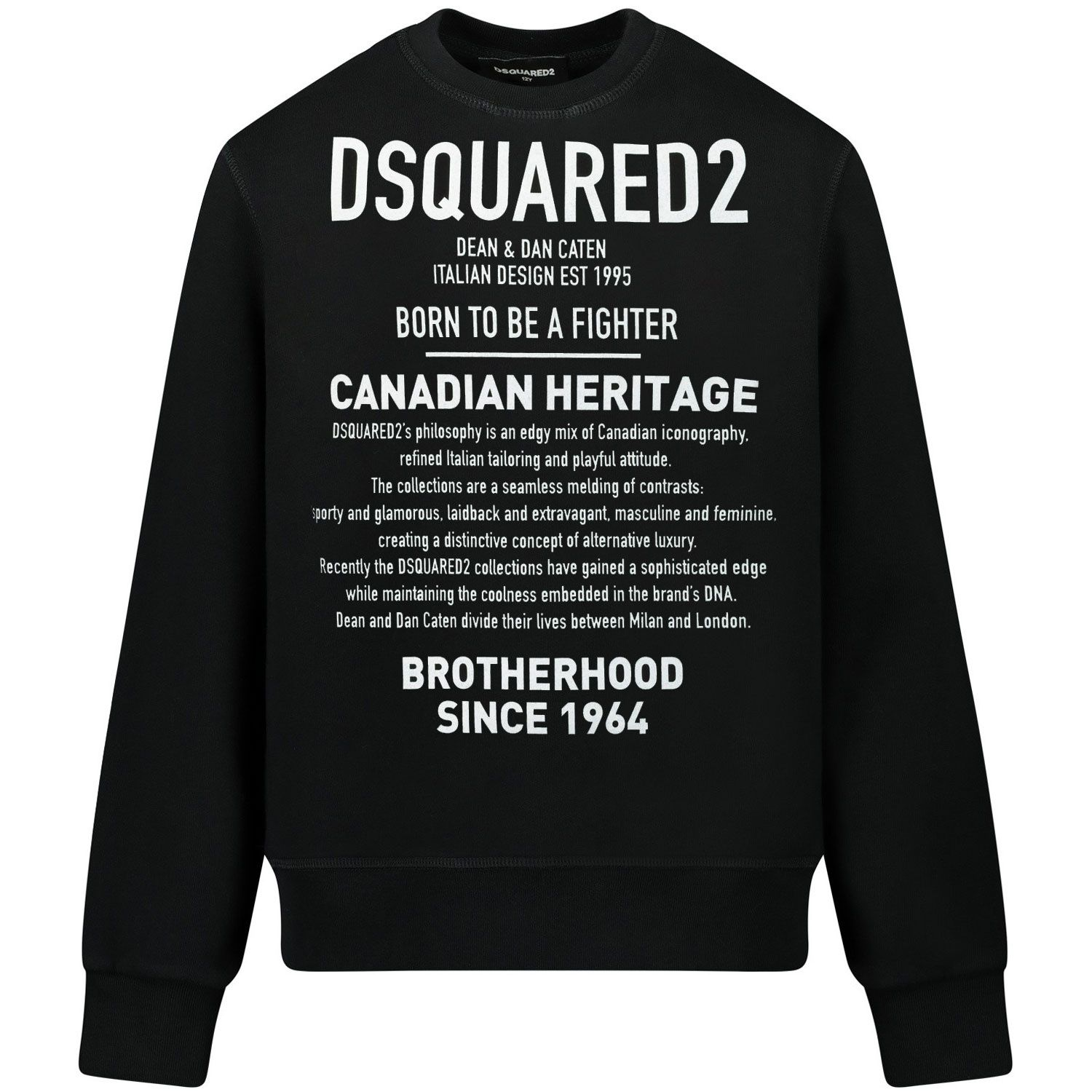 Picture of Dsquared2 DQ0474 kids sweater black