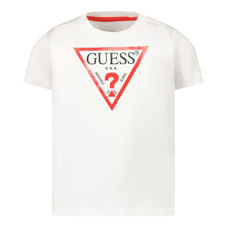 Afbeelding van Guess I91I11/K5M20 baby t-shirt wit