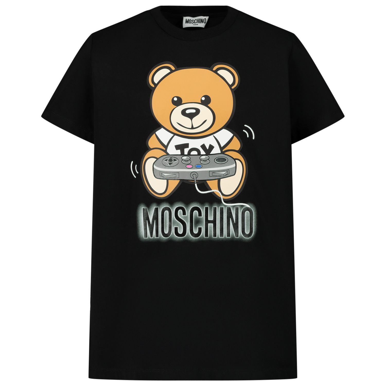 Afbeelding van Moschino HQM02S kinder t-shirt zwart