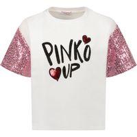 Picture of Pinko 027216 kids t-shirt white