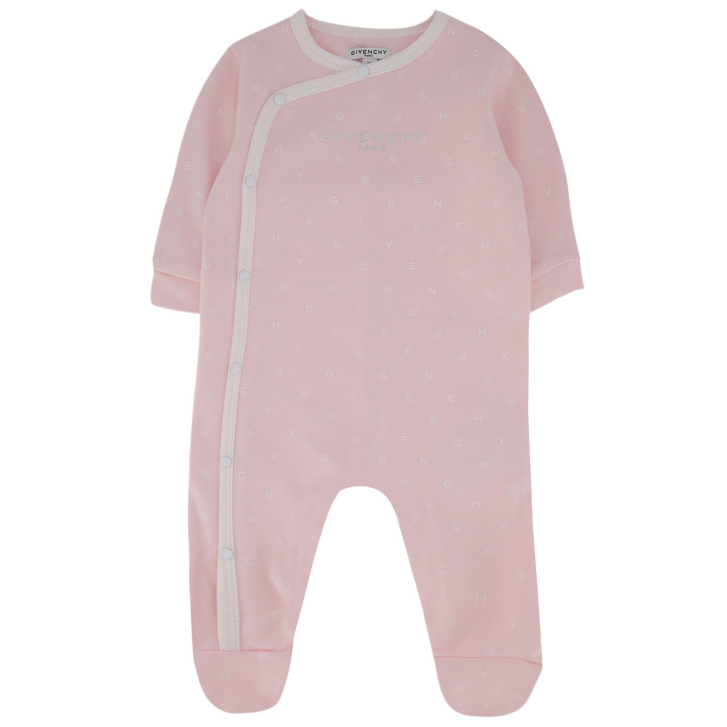Picture of Givenchy H97059 baby playsuit light pink