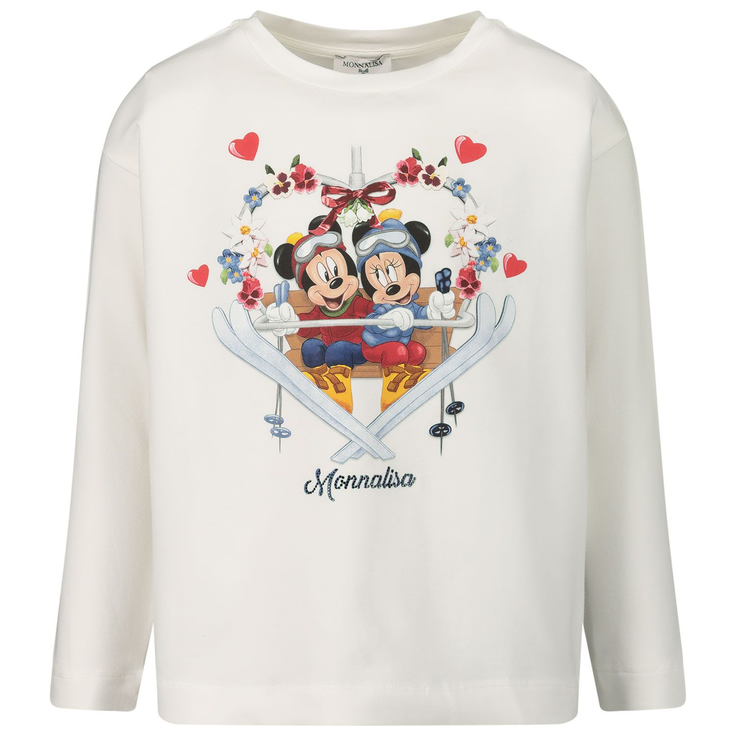 Picture of MonnaLisa 116623P4 kids t-shirt off white