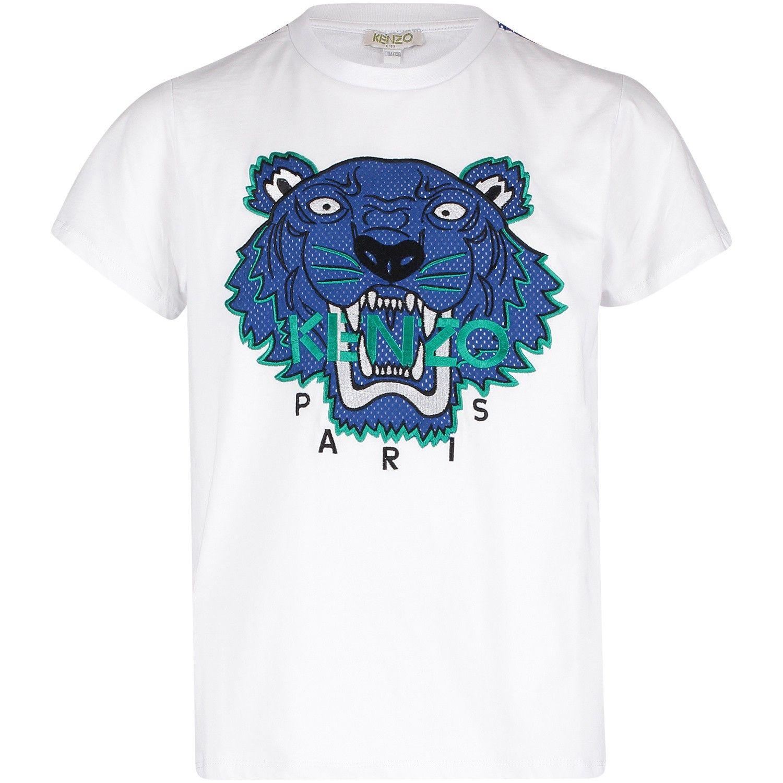 Afbeelding van Kenzo KN10708 kinder t-shirt wit