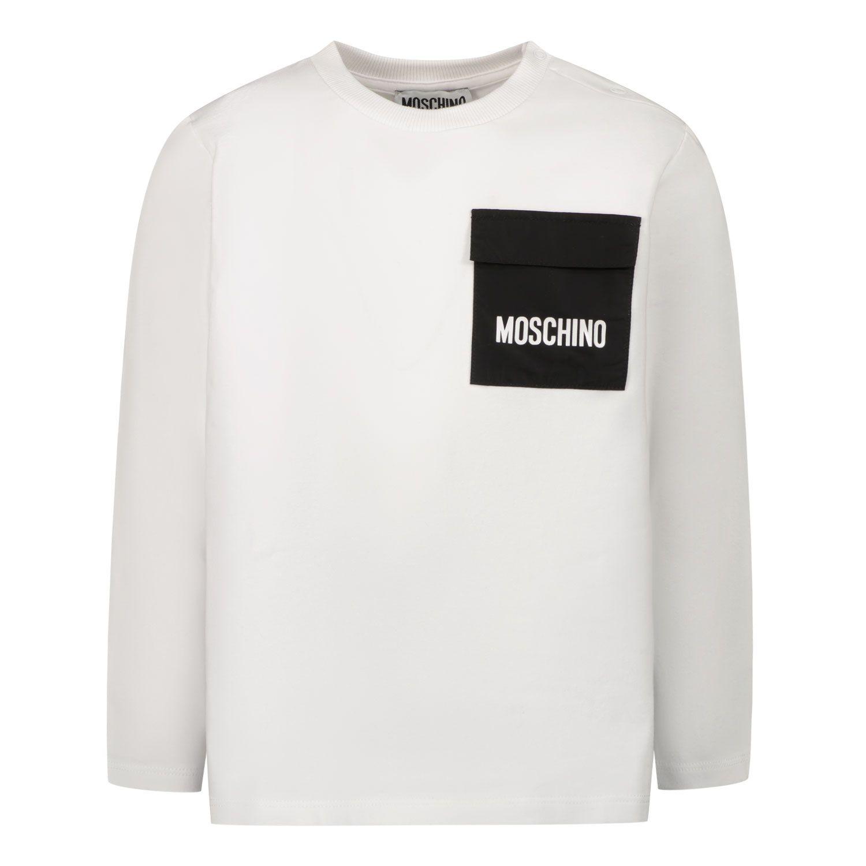 Bild von Moschino MUO006 Baby-T-Shirt Weiß