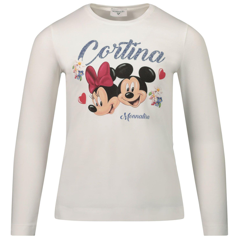 Afbeelding van MonnaLisa 116620P3 kinder t-shirt off white
