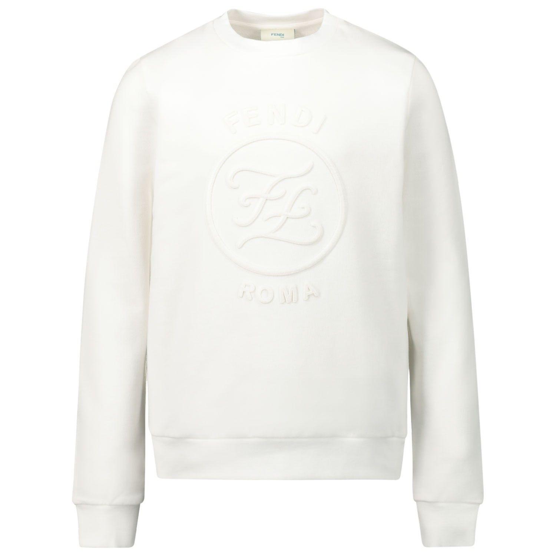 Picture of Fendi JFH091 kids sweater white