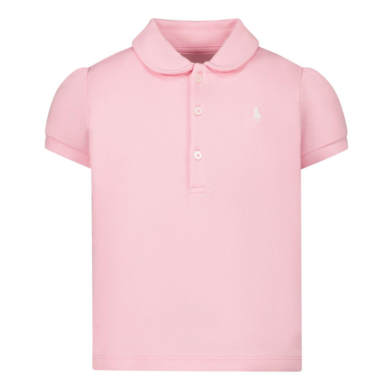 Picture of Ralph Lauren 310734912 baby poloshirt dark pink