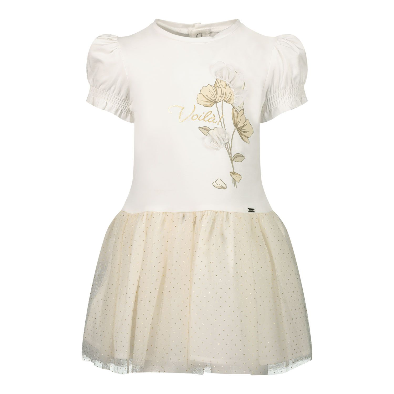 Picture of Mayoral 1958 baby dress gold