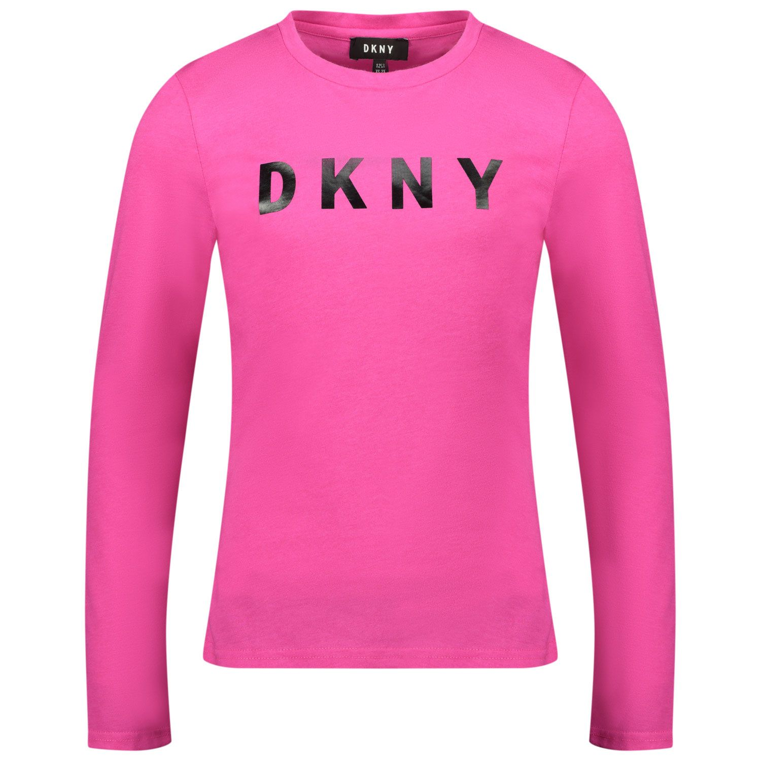 Picture of DKNY D35R14 kids t-shirt fluoro pink