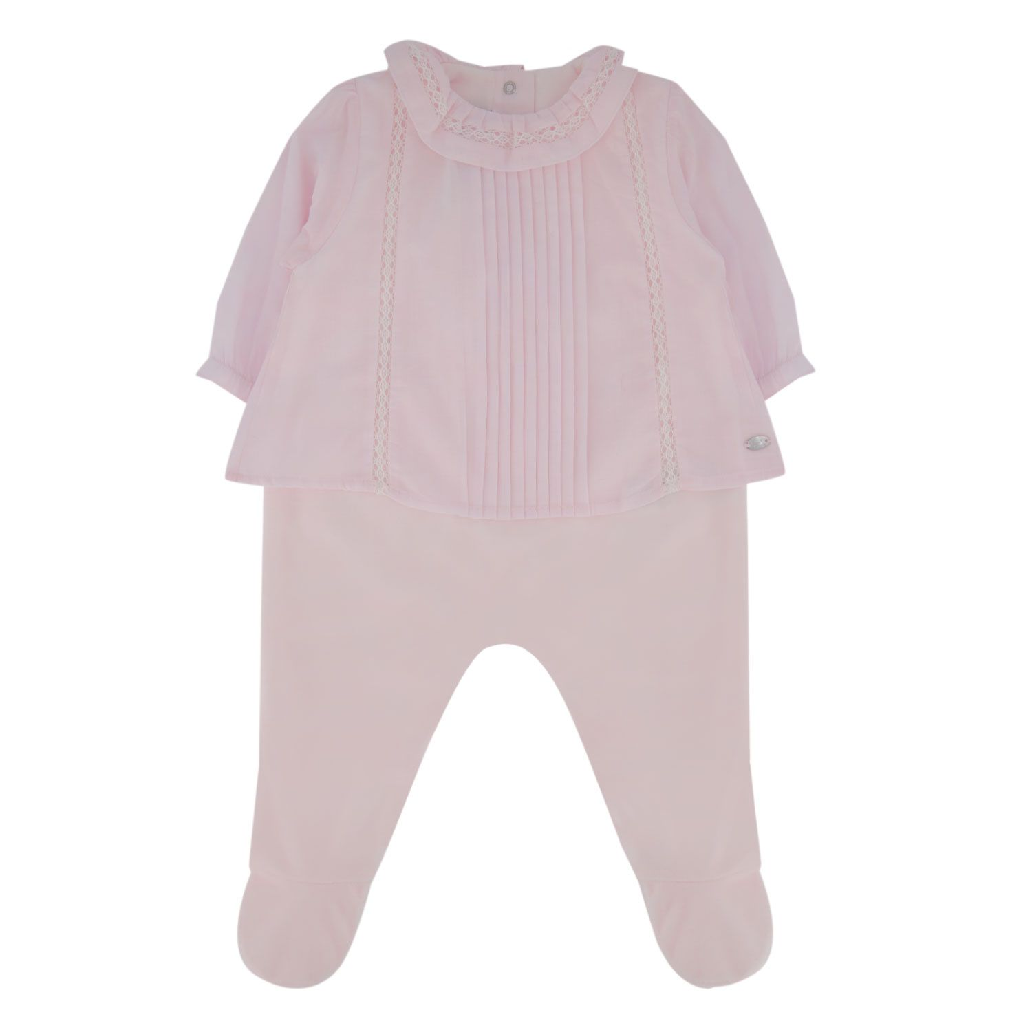 Picture of Tartine et Chocolat TR54101 baby playsuit light pink