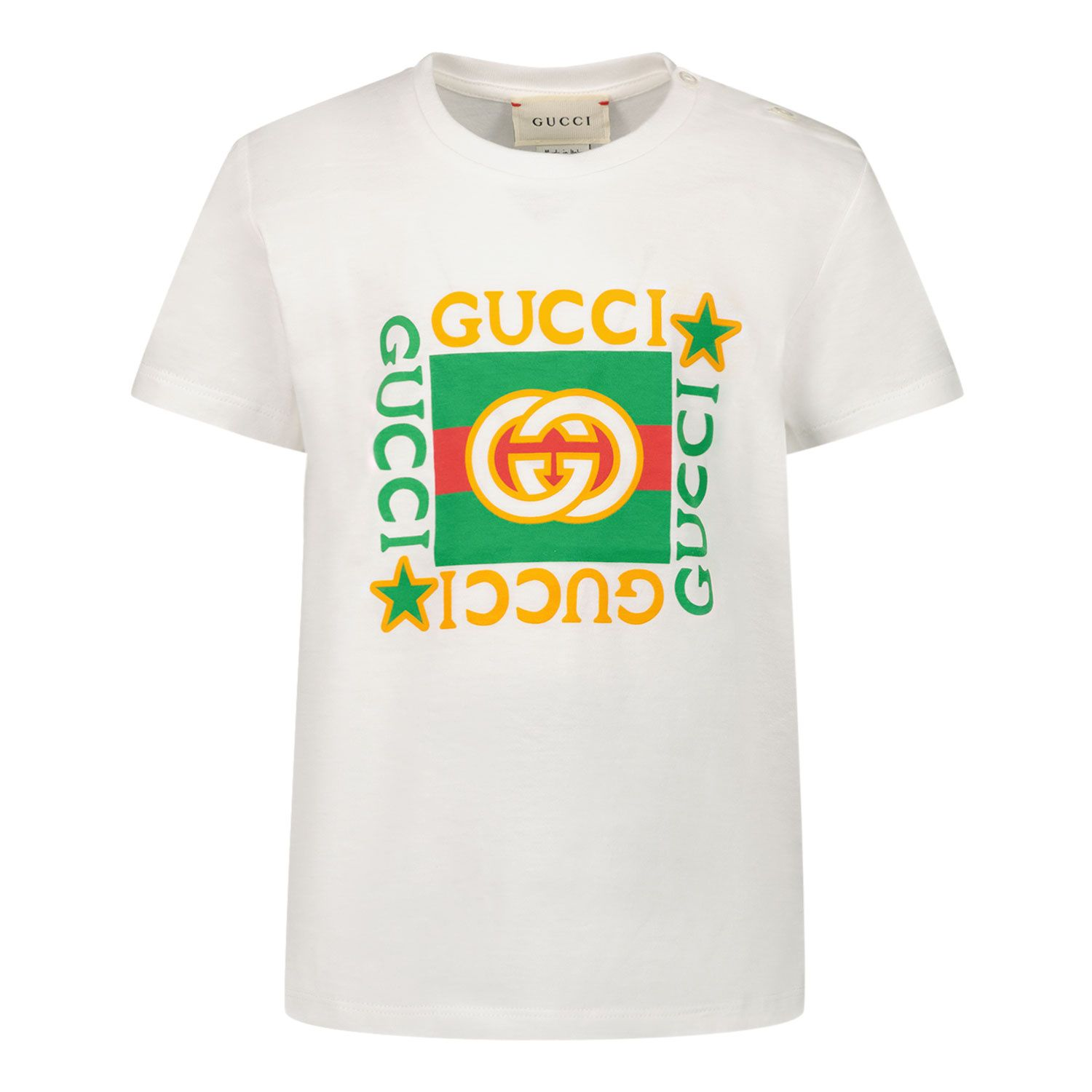 Picture of Gucci 548034 XJCPU baby shirt white