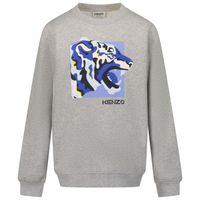 Picture of Kenzo K25152 kids sweater grey