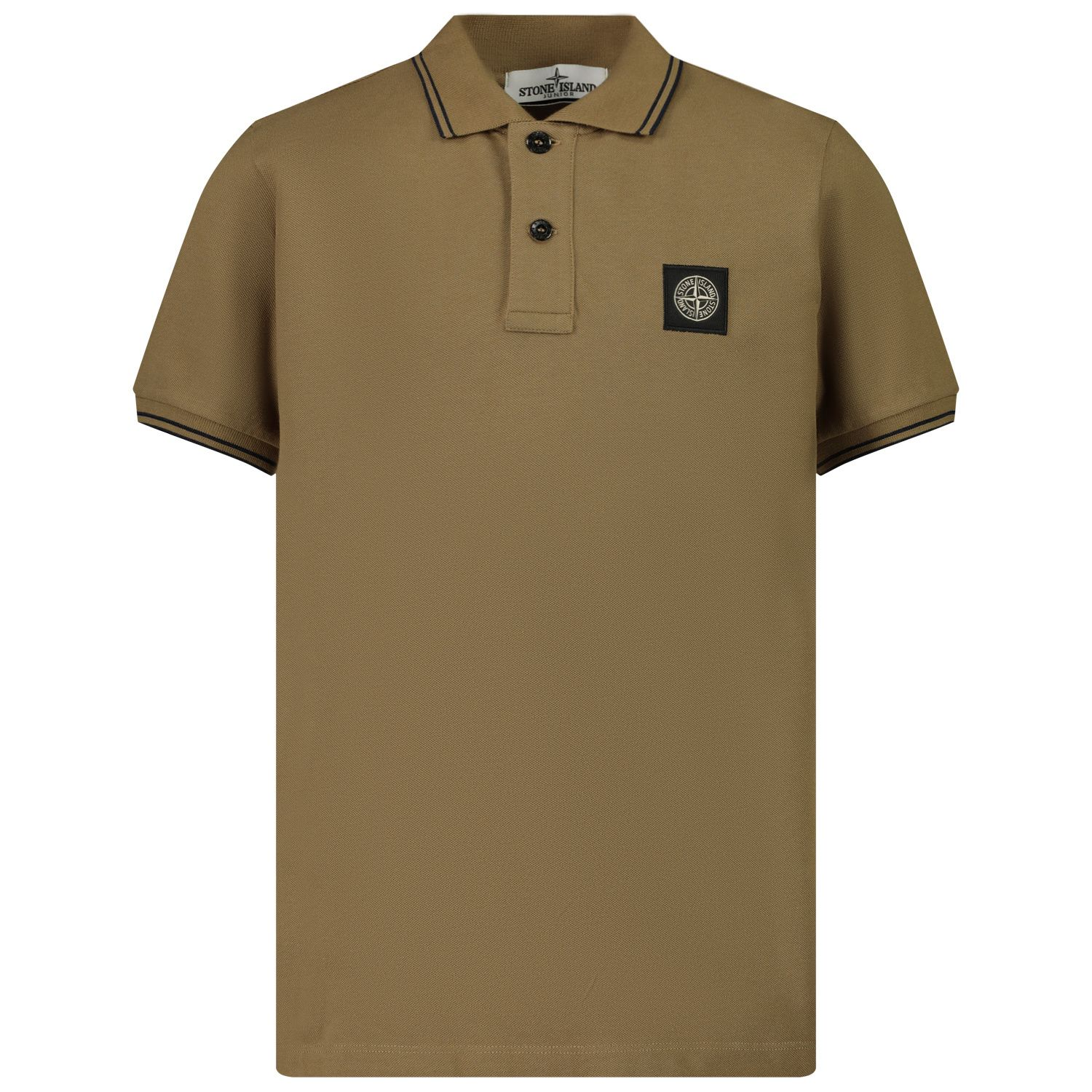 Picture of Stone Island MO731621348 kids polo shirt camel