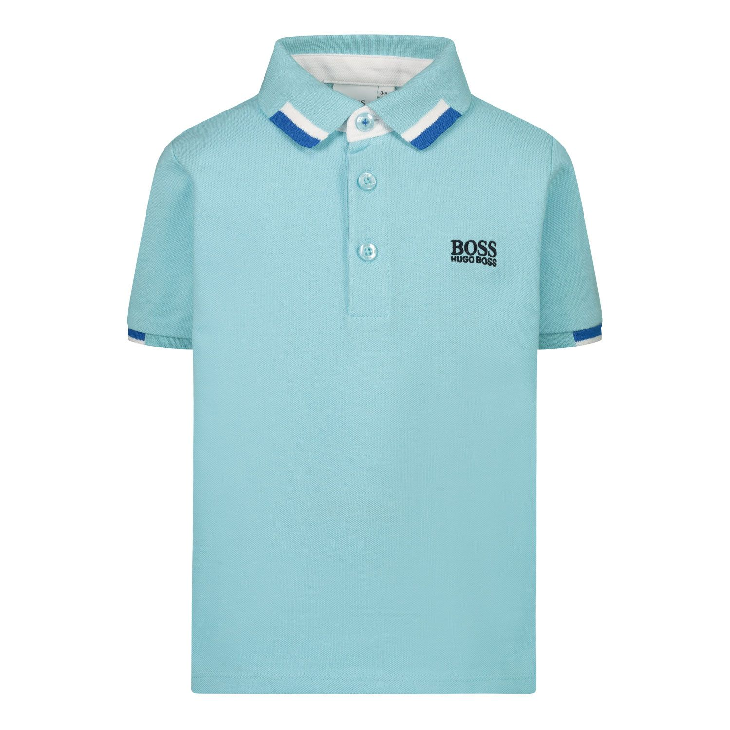 Picture of Boss J05847 baby poloshirt turquoise