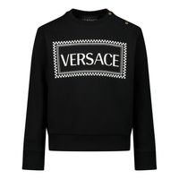 Picture of Versace YB000200 baby sweater black