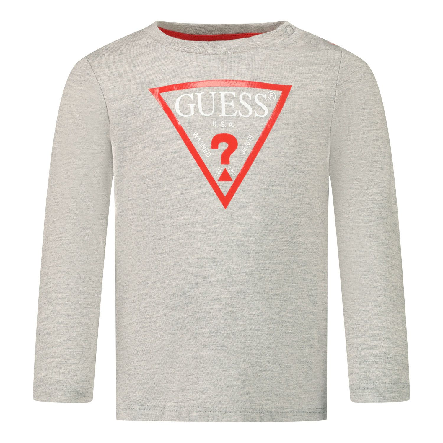 Picture of Guess I84I09/K5M20 baby shirt light gray