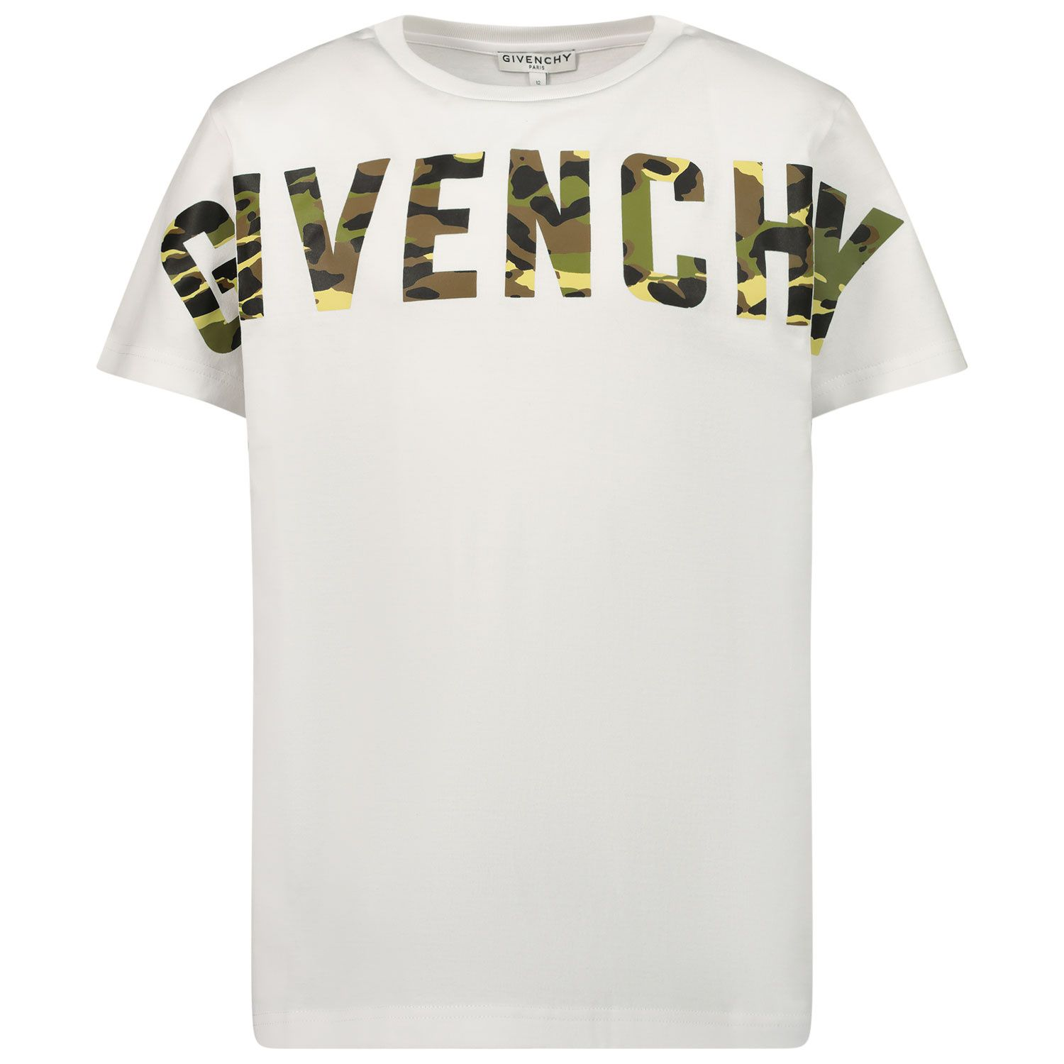 Picture of Givenchy H25248 kids t-shirt white