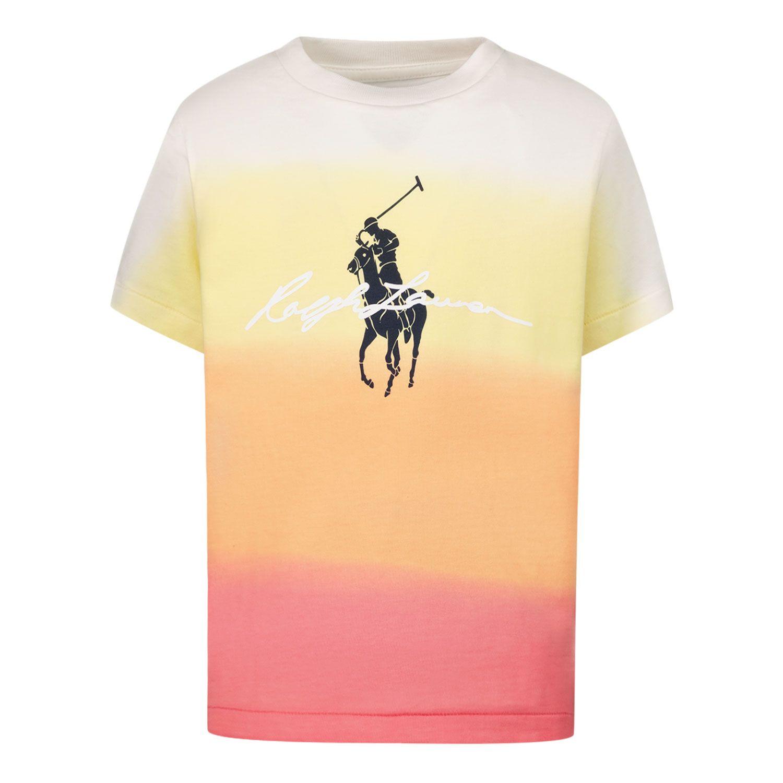 Afbeelding van Ralph Lauren 836715 kinder t-shirt peach