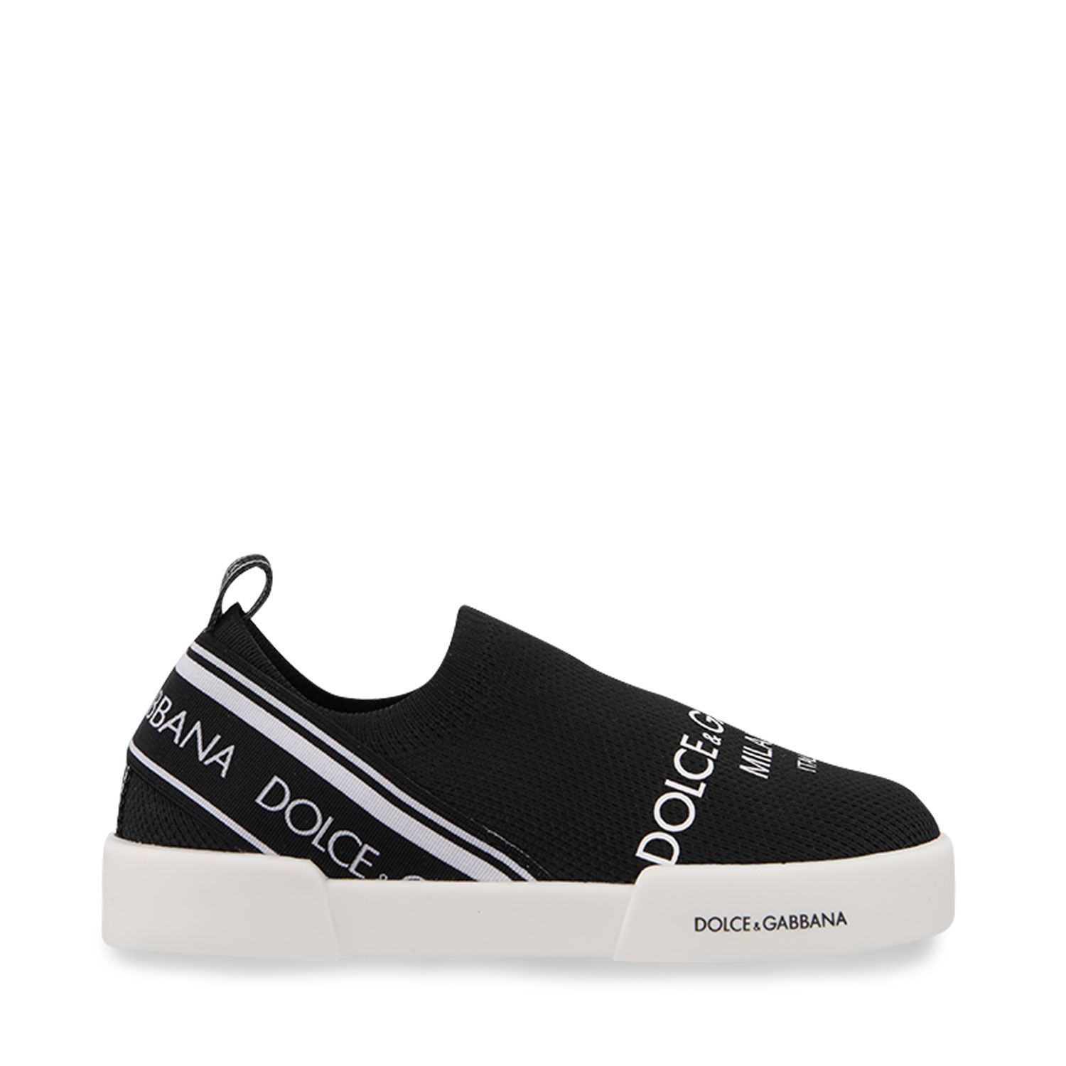 Picture of Dolce & Gabbana DN0151 AA660 kids sneakers black