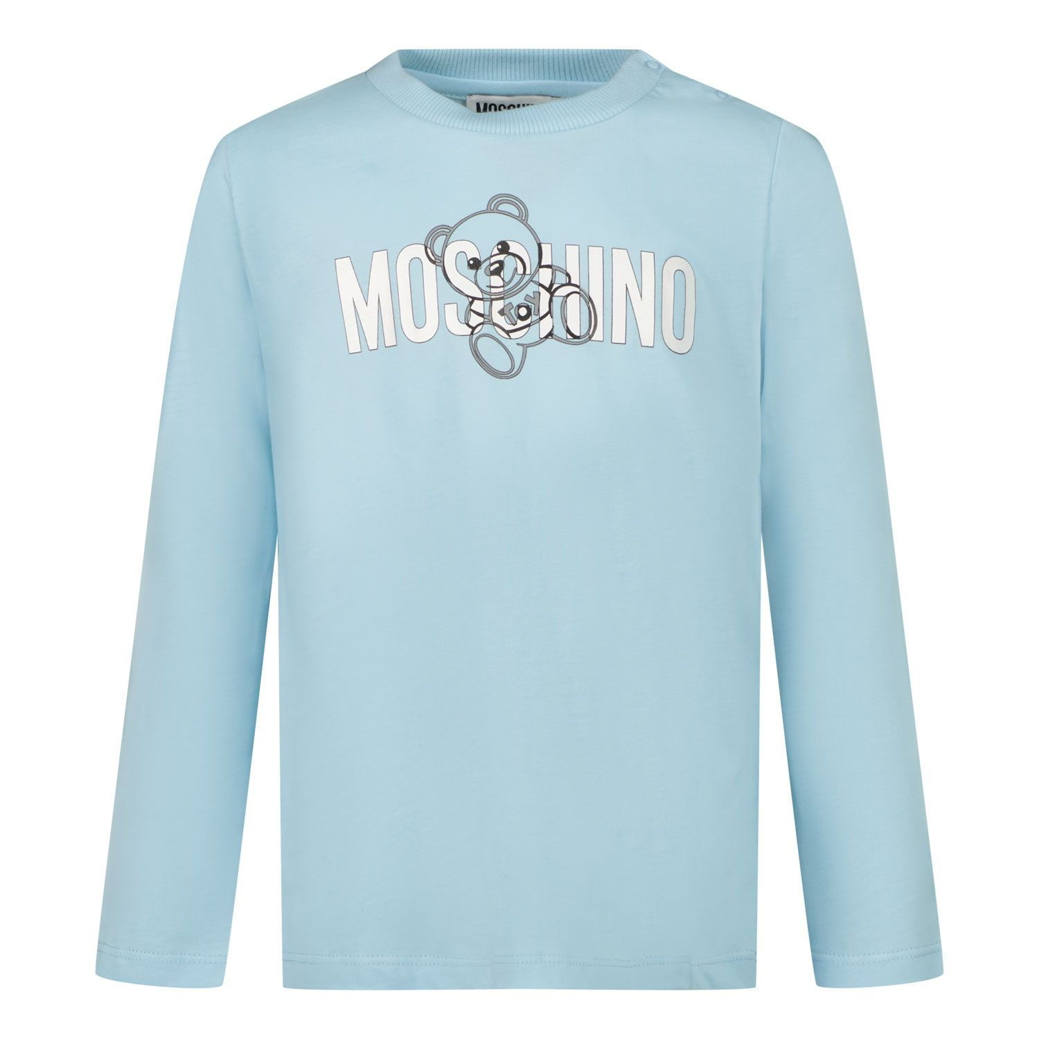 Picture of Moschino MPO005 baby shirt light blue