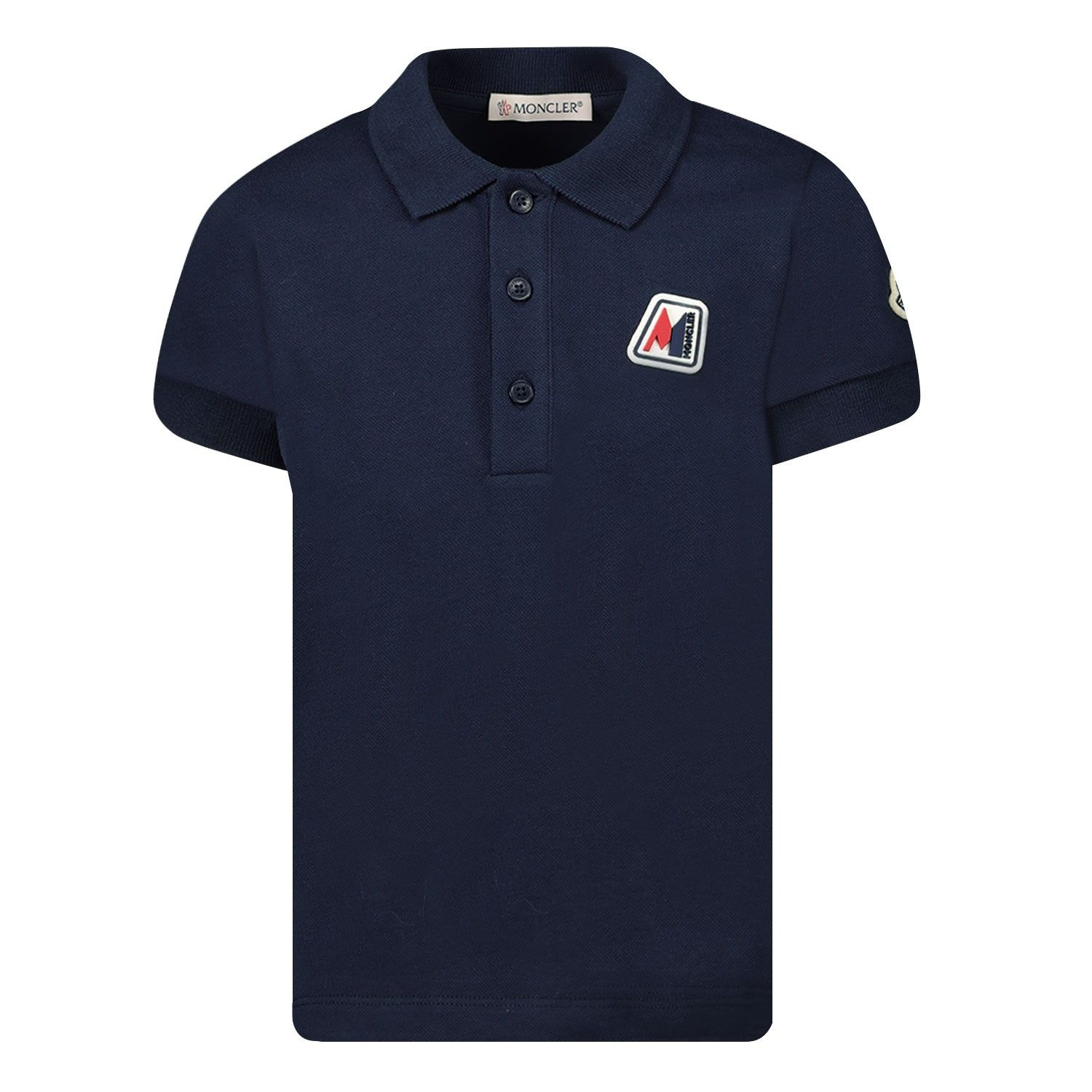 Afbeelding van Moncler 8A70220 baby polo donker blauw