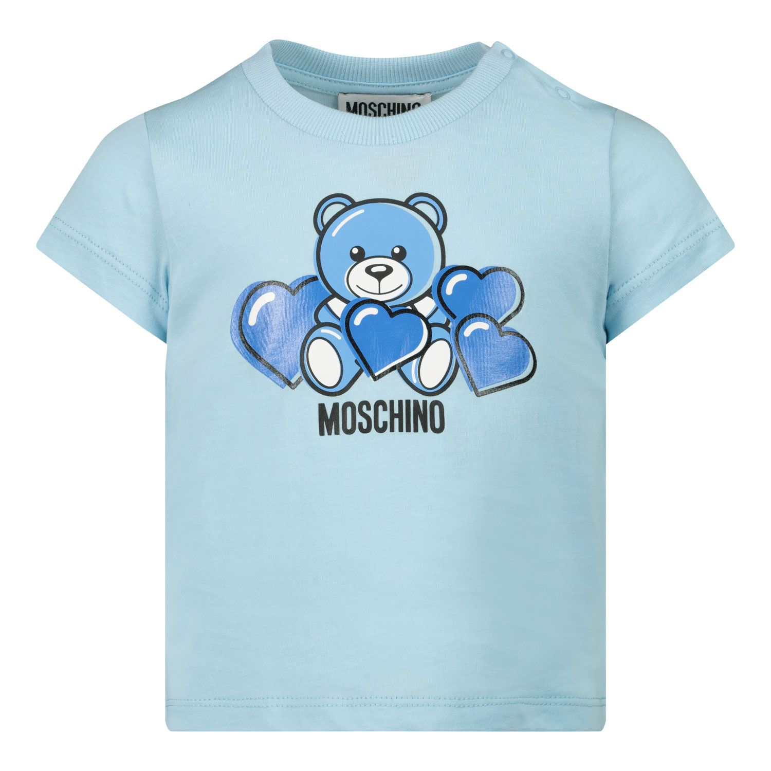 Picture of Moschino MXM02A baby shirt light blue