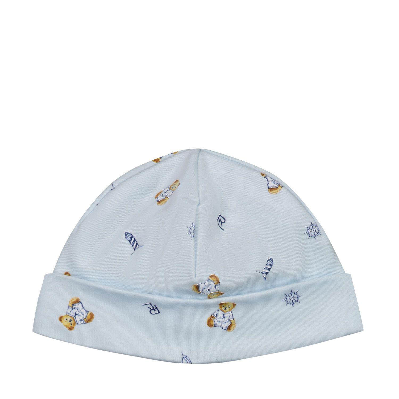 Picture of Ralph Lauren 320833480 baby hat light blue