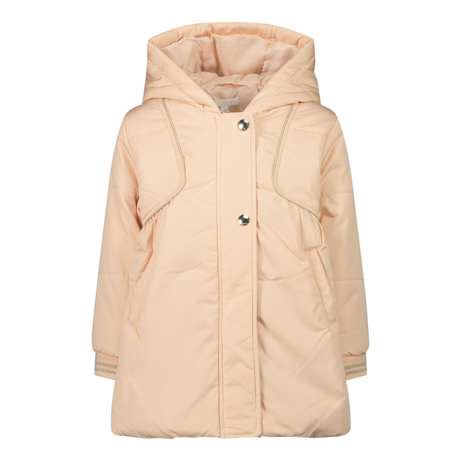 Picture of Chloé C06110 baby coat light pink