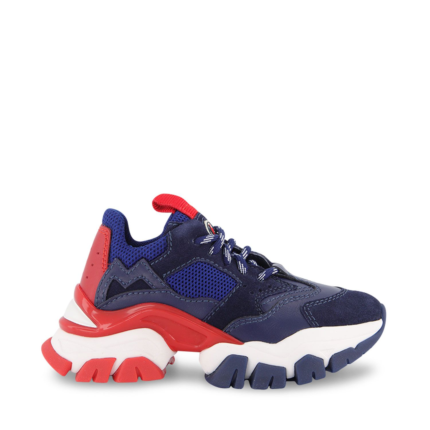 Picture of Moncler 4M70700 kids sneakers navy