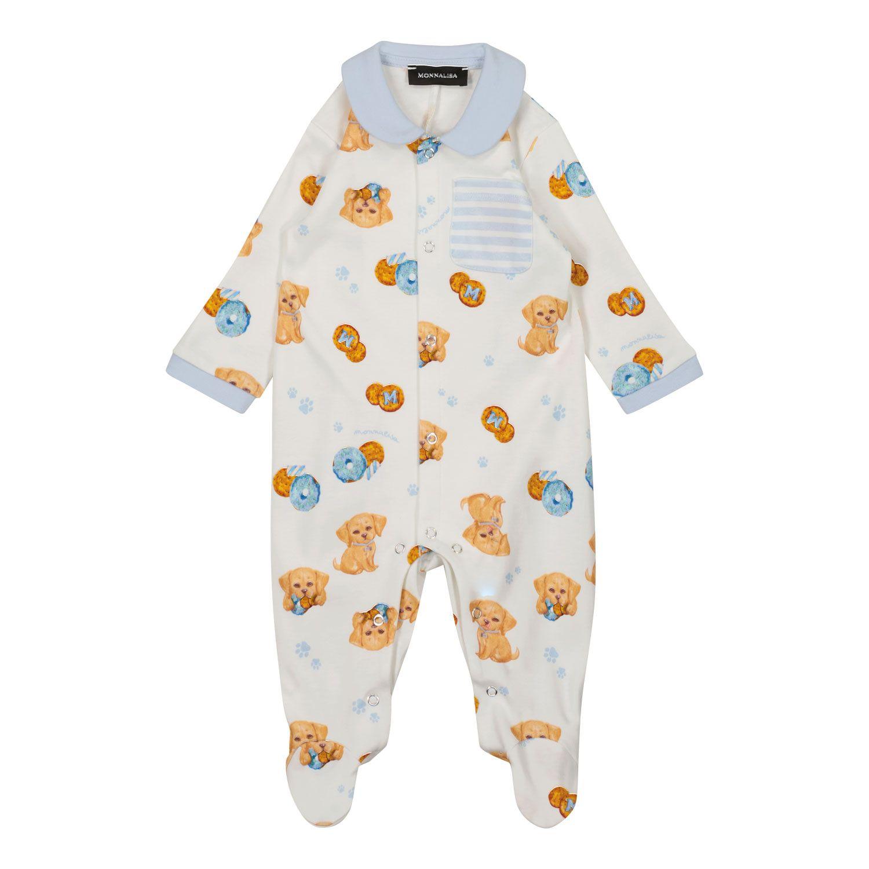 Bild von MonnaLisa 228200 Babystrampelanzug Creme