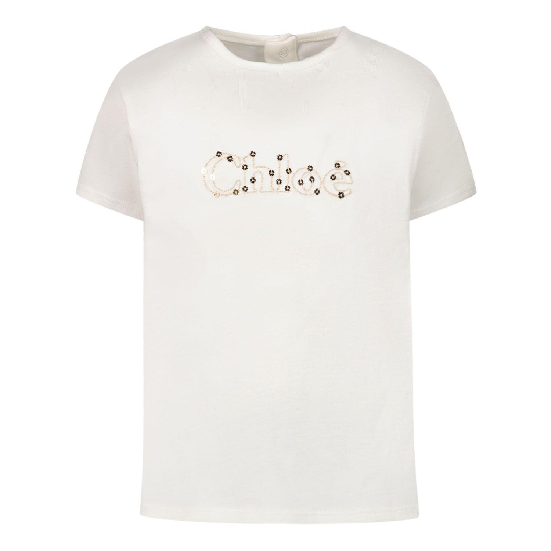 Bild von Chloé C05368 Baby-T-Shirt Creme