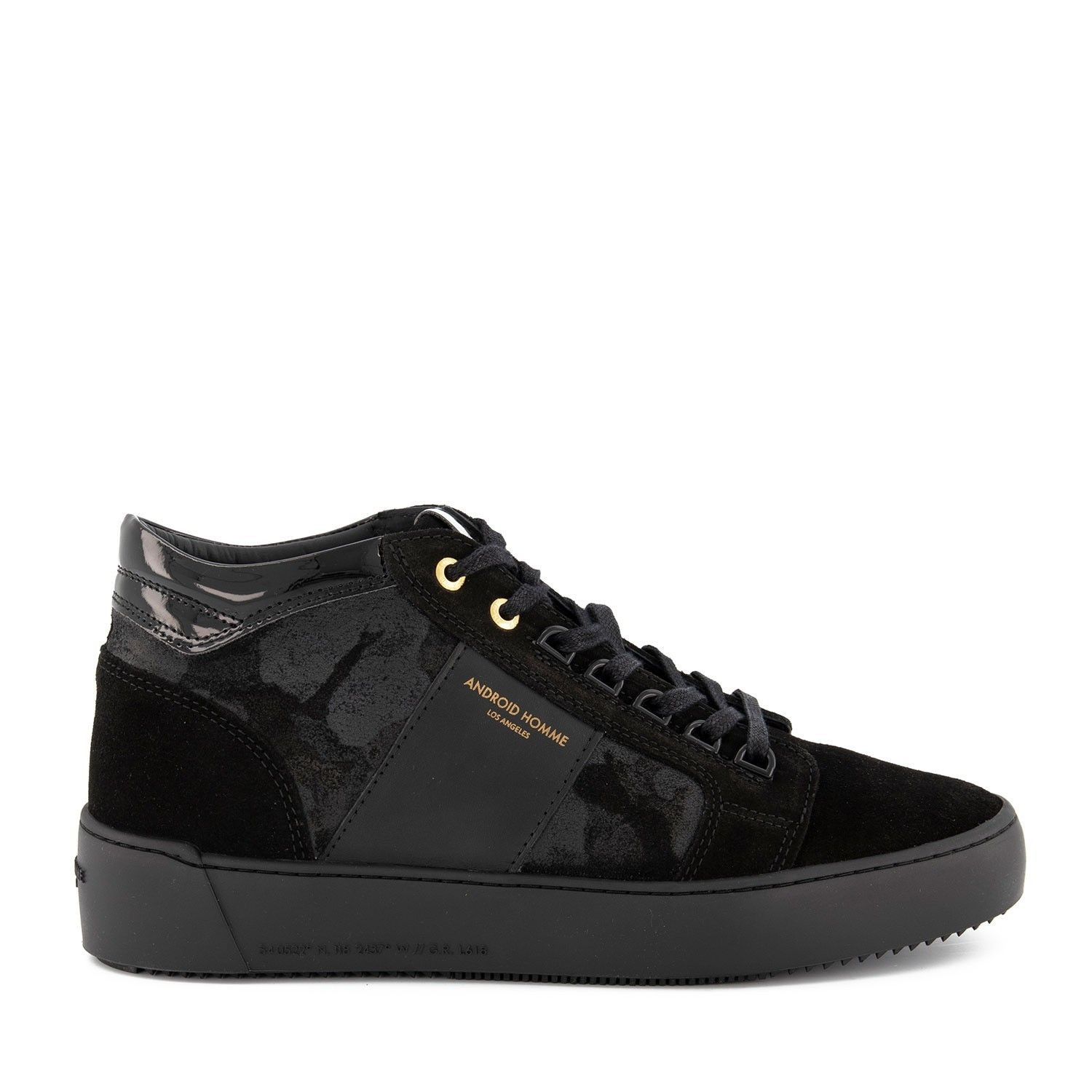 Picture of Android AHP19312 mens sneakers black