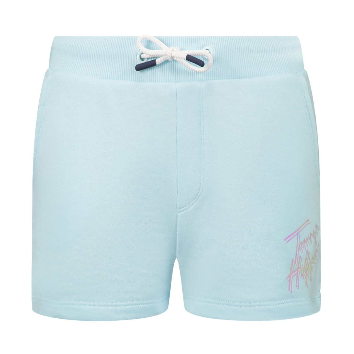 Picture of Tommy Hilfiger KG0KG05899 kids shorts turquoise