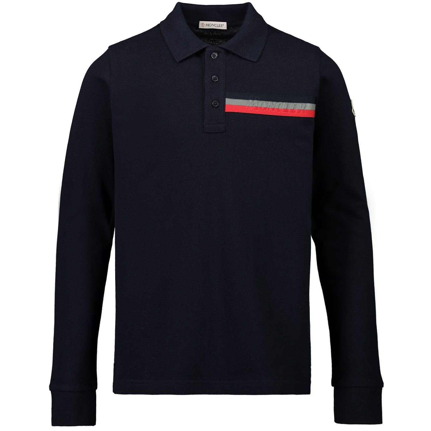 Picture of Moncler 8B70120 kids polo shirt navy