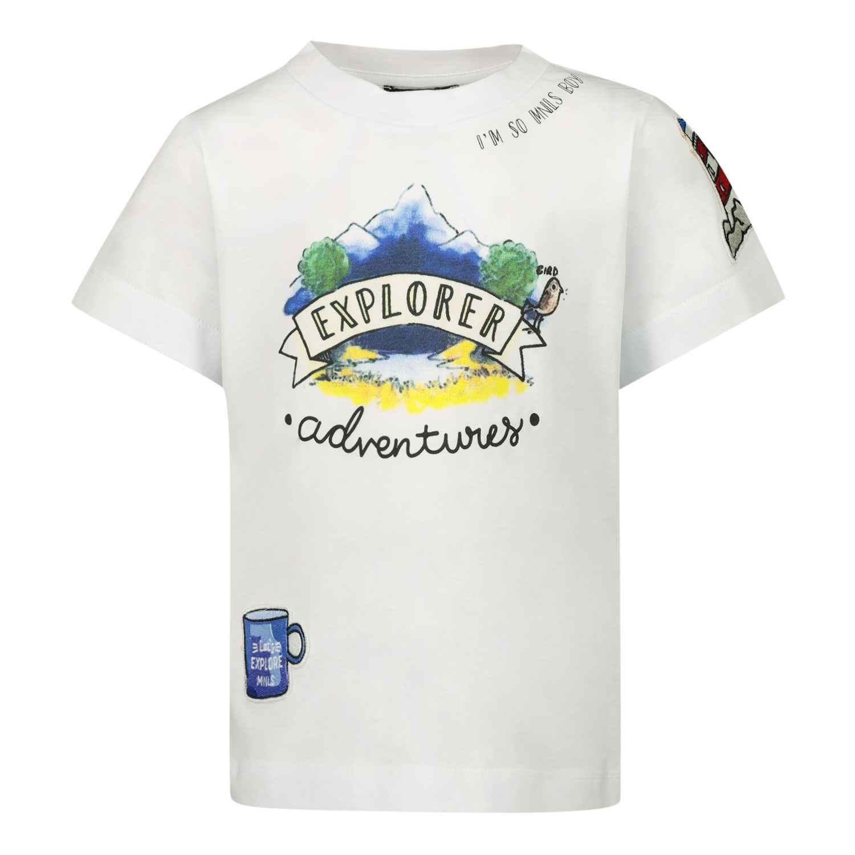 Picture of MonnaLisa 257603 kids t-shirt ecru