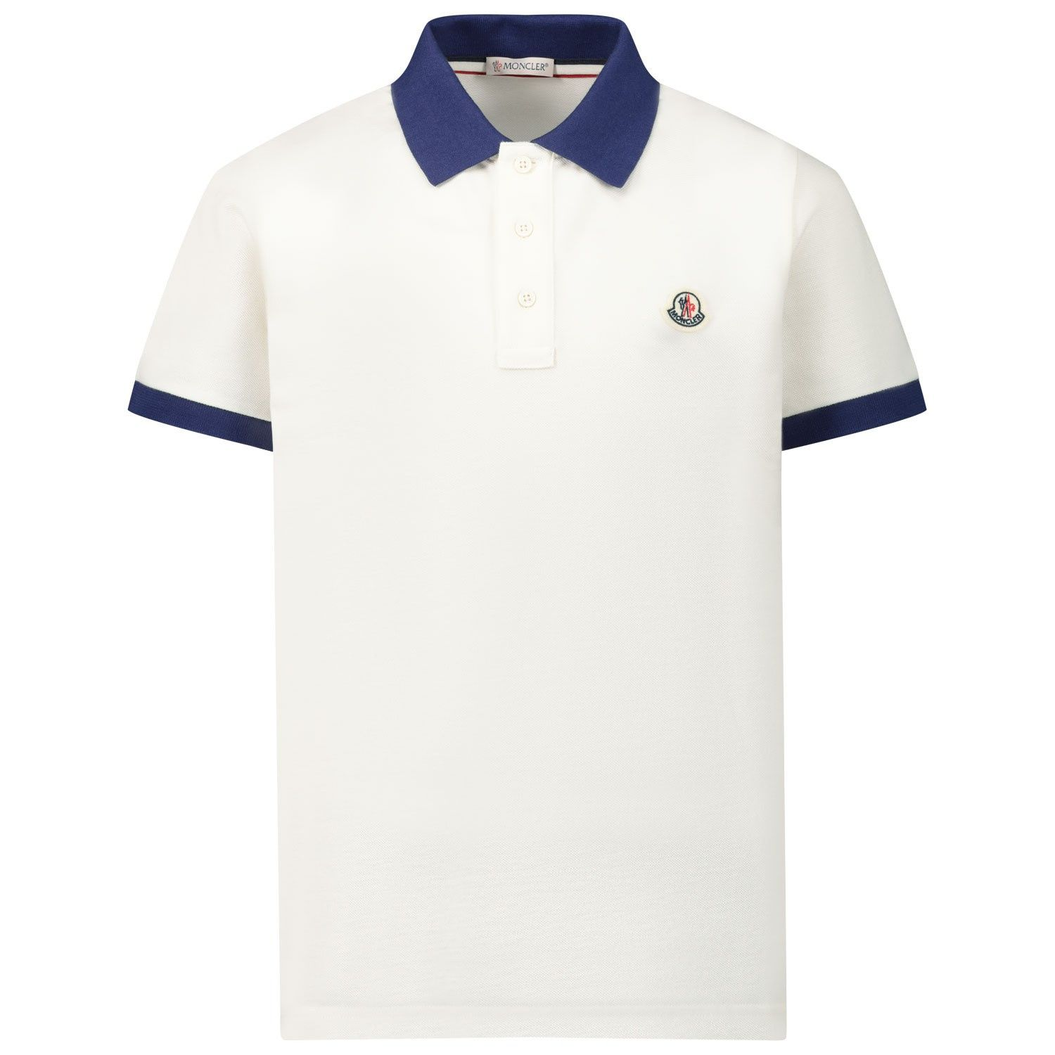 Picture of Moncler 8A70120 kids polo shirt white