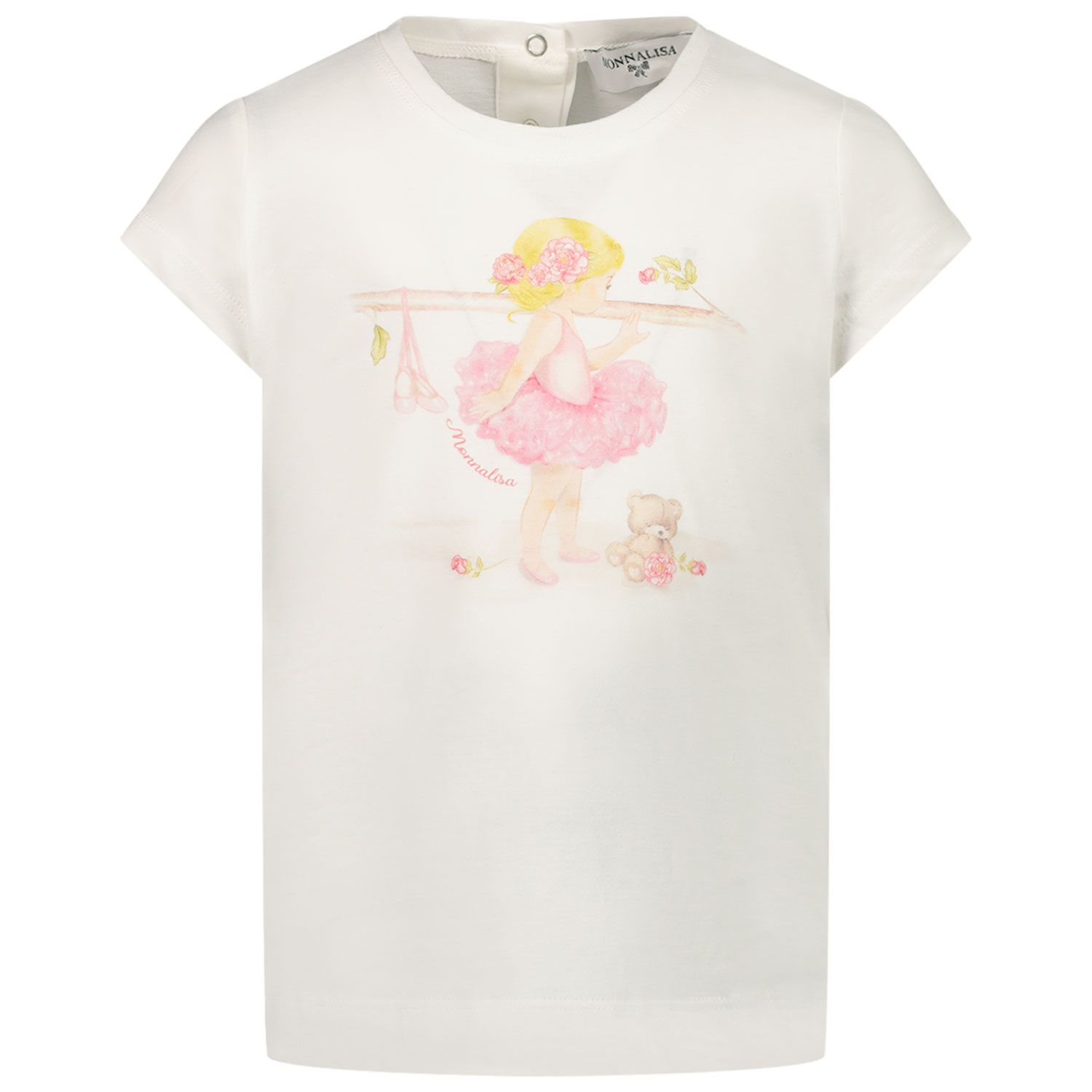 Picture of MonnaLisa 497602SB baby shirt off white