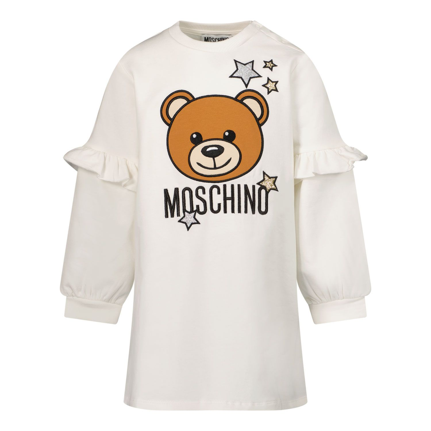 Picture of Moschino MDV09A baby dress white