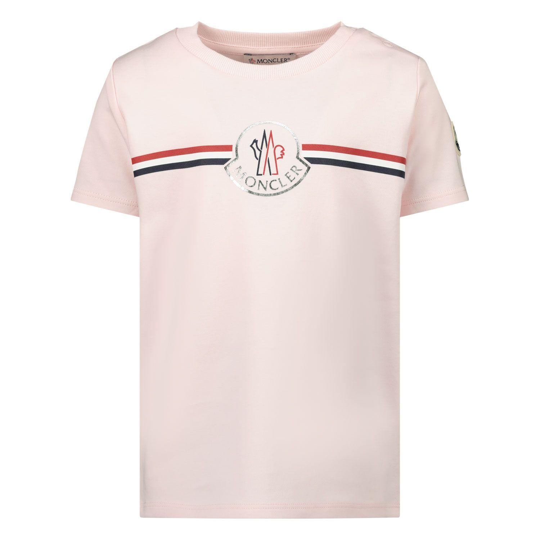 Afbeelding van Moncler 8C71700 baby t-shirt licht roze