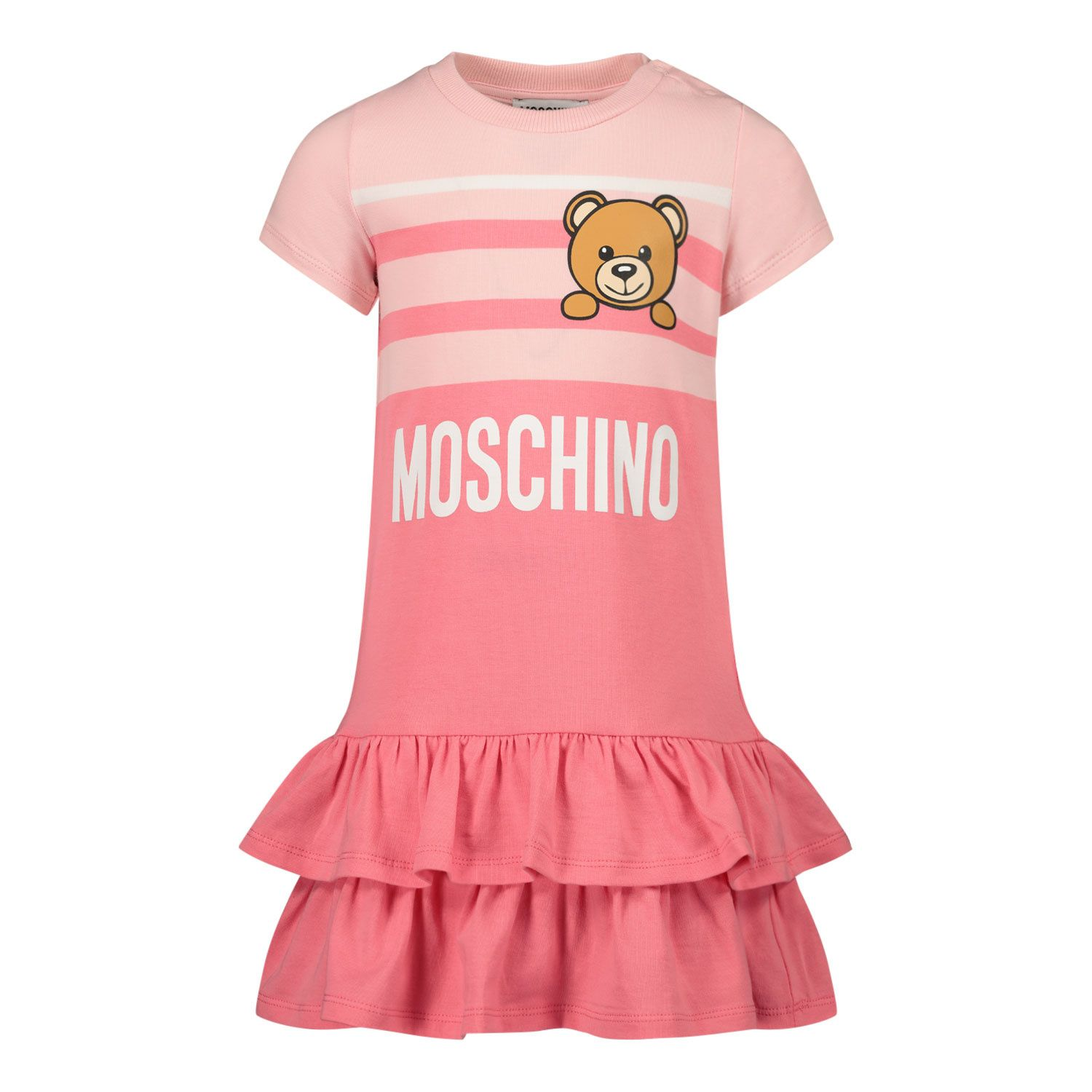 Picture of Moschino MBV06Y baby dress pink