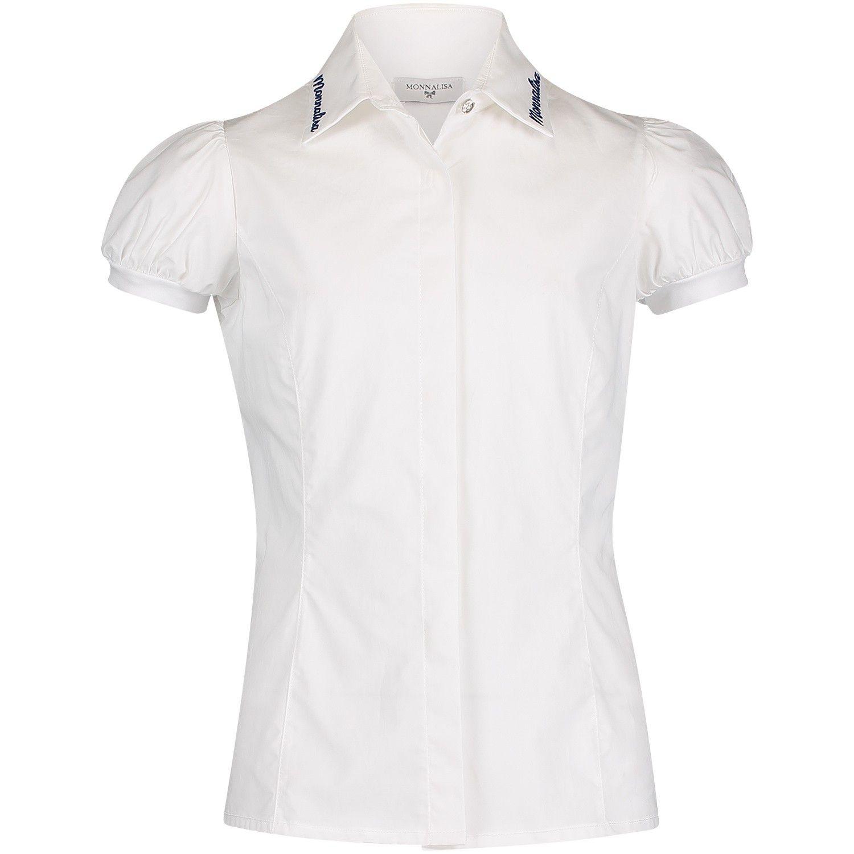 Afbeelding van MonnaLisa 17CAML kinder overhemd wit/blauw