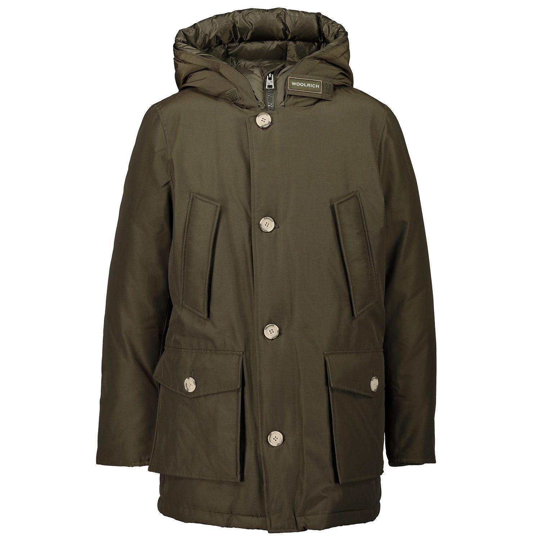Picture of Woolrich WKOU0123MR kids jacket army